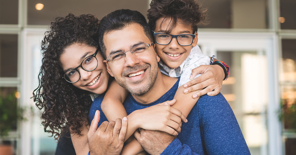 Happy Family with Glasses in Arlington, TX