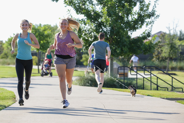 There are many trails to enjoy running or biking in Viridian.